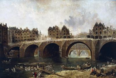 Destruction of Houses on Pont Notre-Dame in 1786
