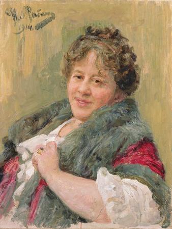 Portrait of Tatiana Olga Shchepkina-Kupernik (1874-1952) 1914