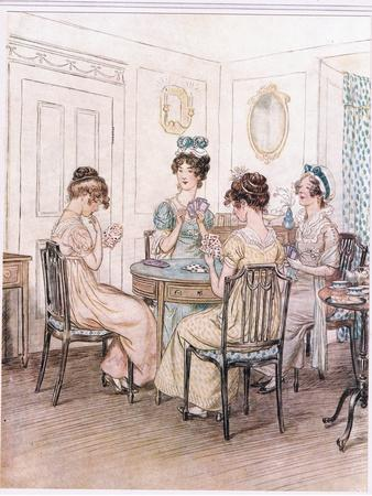 Miss Willoughby: We Shall Probably Spend the Evening Here with Miss Susan at the Card Table