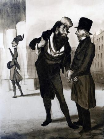 Robert Macaire Agent D'Affaires from 'Le Charivari' 1840