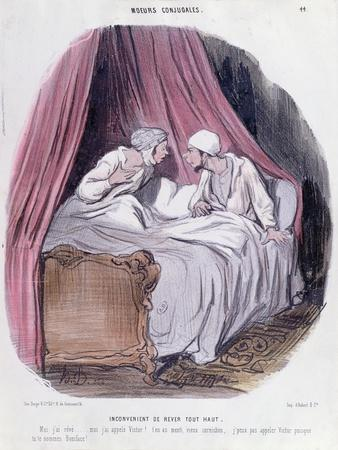 Cartoon About Marriage, Mid Nineteenth Century