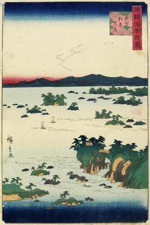 Actual View of Mastushima, Oshu Province, June 1859