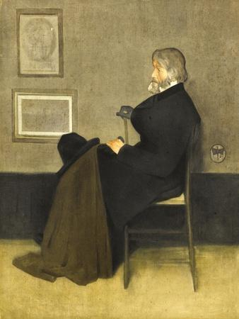 Portrait of Thomas Carlyle, C.1880 (Hand-Coloured Photogravure, on White Wove Paper)