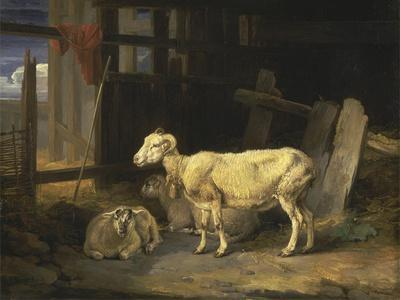 Heath Ewe and Lambs, 1810