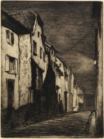 Street at Saverne from Twelve Etchings from Nature, 1858