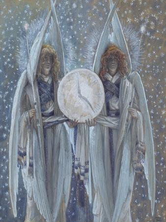 Angels Supporting a Dial Which Indicates the Hours of the Different Scenes of the Passion for 'The