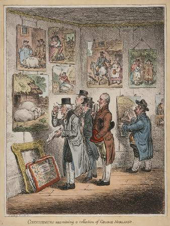 Connoisseurs Examining a Collection of George Morland'S, Published by Hannah Humphrey, 1807