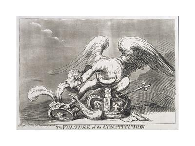 The Vulture of the Constitution, Published by Hannah Humphrey in 1789