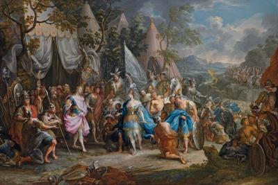 The Amazon Queen, Thalestris, in the Camp of Alexander the Great