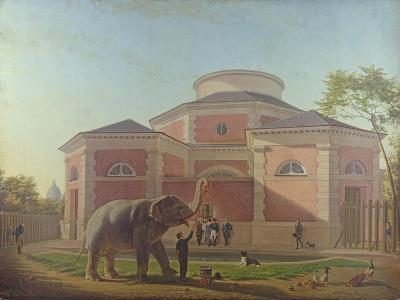 The Duc and Duchesse De Berry Visiting the Elephant at the Jardin Des Plantes in Paris, 1817