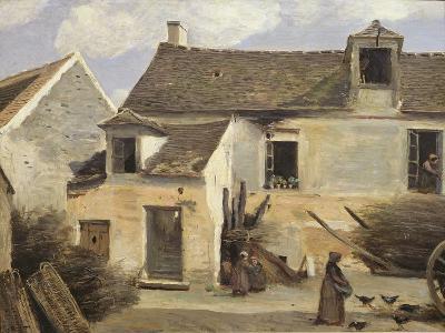 Courtyard of a Bakery Near Paris, or Courtyard of a House Near Paris, C.1865-70