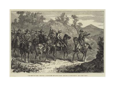 The Basuto War, Colonial Volunteers Reconnoitring, Return of the Scout