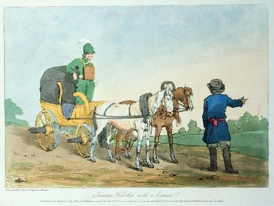 Summer Kibitka with a Courier, 1803