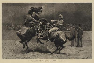 A Military Tournament, Sword Versus Lance