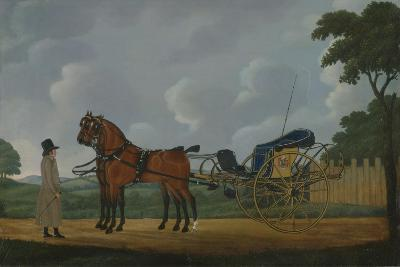 A Gentleman with His Pair of Bays Harnessed to a Curricle