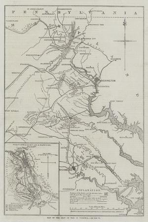 Map of the Seat of War in Virginia