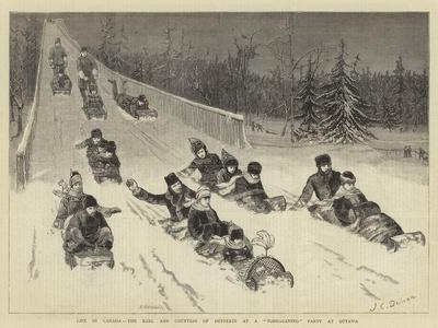 Life in Canada, the Earl and Countess of Dufferin at a Tobogganing Party at Ottawa