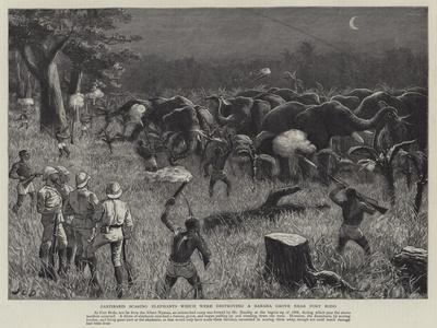 Zanzibaris Scaring Elephants Which Were Destroying a Banana Grove Near Fort Bodo