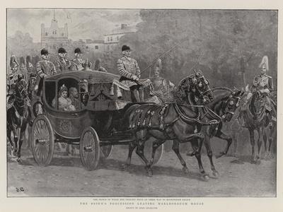 The Bride's Procession Leaving Marlborough House