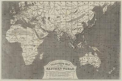 Telegraph Map of the Eastern World