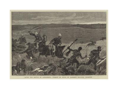 After the Battle of Ginghilova, Pursuit of Zulus by Barrow's Mounted Infantry
