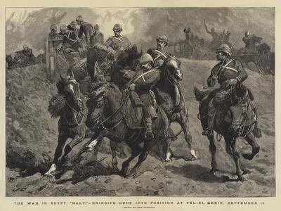 The War in Egypt, Halt!, Bringing Guns into Position at Tel-El-Kebir, 13 September