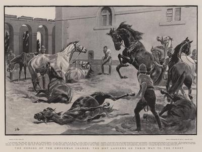 The Heroes of the Omdurman Charge, the 21st Lancers on their Way to the Front