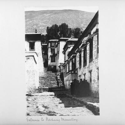 Entrance to Nachung Monastery, Tibet, 1903-04