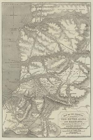 Map of the Country Between the River Alma and Balaklava