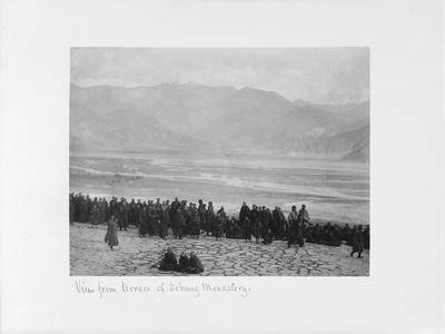 View from Terrace of Debung Monastery, Tibet, 1903-04