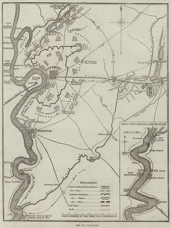 Map of Vicksburg