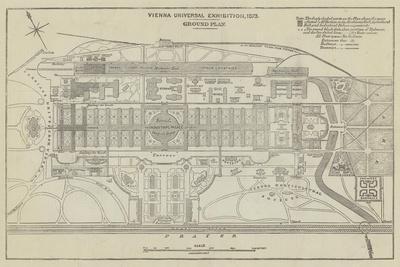 Ground Plan of the Vienna Universal Exhibition, 1873