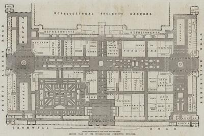 Ground Plan of the International Exhibition Building