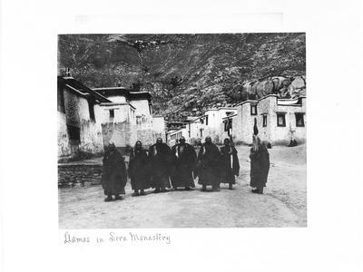 Lamas in Sera Monastery, Lhasa, Tibet, 1903-04