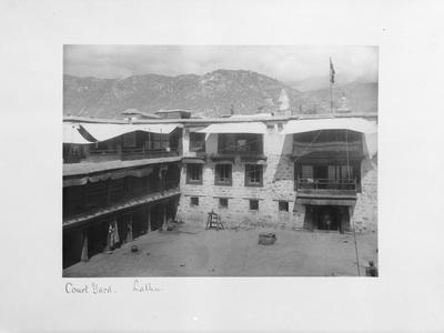 Courtyard, Lalhu, Tibet, 1903-04