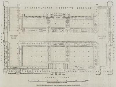 Plan of the Galleries of the International Exhibition Building
