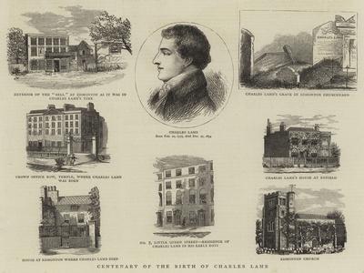 Centenary of the Birth of Charles Lamb