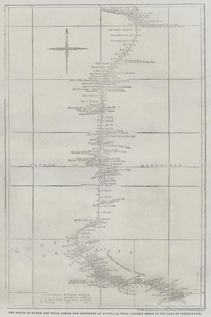 The Route of Burke and Wills across the Continent of Australia from Cooper's Creek to the Gulf of C