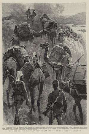 A Camel Convoy with Ammunition and Stores on the Road to Akasheh