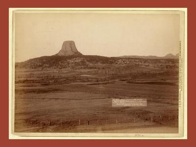 Devil's Tower and Mo. Buttes. Ryan's Ranch in Foreground, 2 Miles from Camera to Tower
