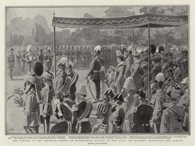 The Parade of the Colonial Troops at Buckingham Palace by the King