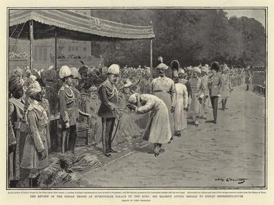 The Review of the Indian Troops at Buckingham Palace by the King