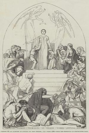 Cartoon, an Allegory of Justice