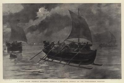 A Stern Chase, Prussian Excisemen Pursuing a Smuggling Ice-Boat on the Russo-German Frontier