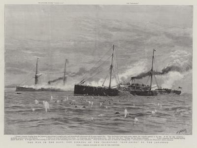 The War in the East, the Sinking of the Transport Kow-Shing by the Japanese