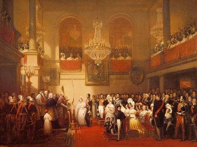 Wedding of Leopold I (1790-1865) to Princess Louise of Orleans (1812-50) at Compiegne