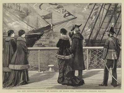 The New Governor-General of Canada, on Board the Sarmatian, Nearing Halifax
