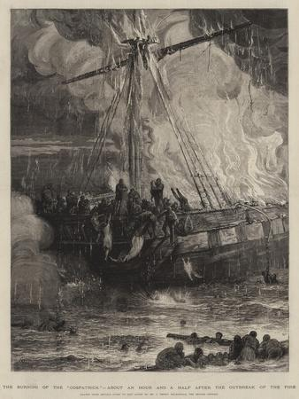 The Burning of the Cospatrick, About an Hour and a Half after the Outbreak of the Fire