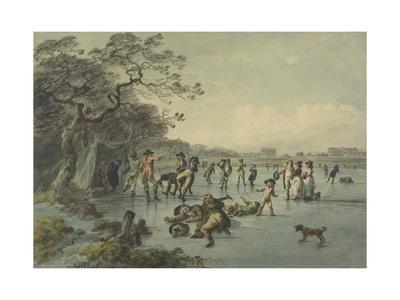 Skating in Hyde Park, C.1785