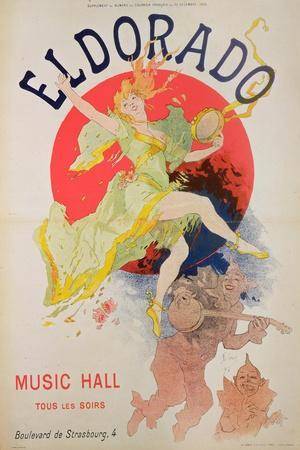 Poster for El Dorado by Jules Cheret (1836-1932)
